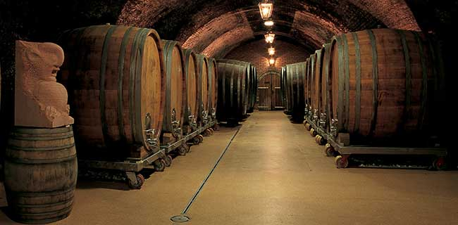 Wine cellar - Barrel on wheels