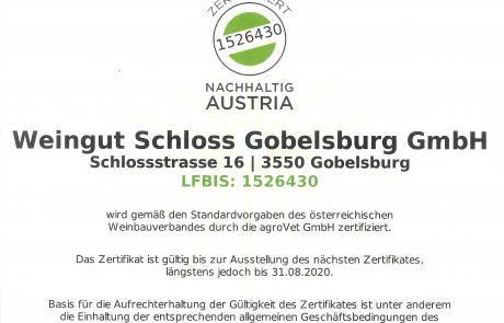 Nachhaltigkeitszertifikat