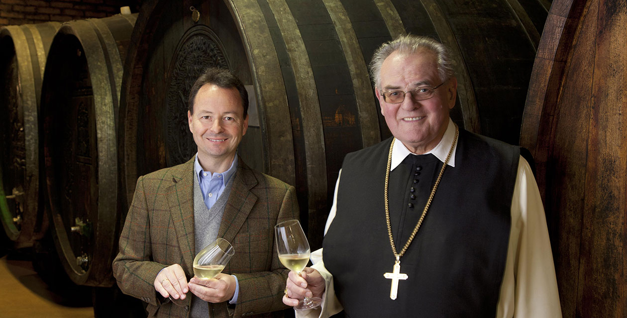 Michael Moosbrugger mit Abt Wolfgang